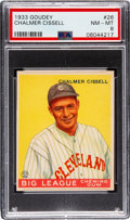Baseball Cards:Singles (1930-1939), 1933 Goudey Chalmer Cissell #26 PSA NM-MT 8 - None Higher! ...