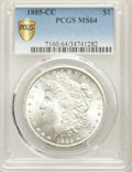 1885-CC $1 MS64 PCGS Secure. PCGS Population: (8297/5828 and 379/351+). NGC Census: (3704/2577 and 78/87+). CDN: $650 Wh...