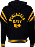 Football Collectibles:Uniforms, 1967 Roger Staubach Game Worn & Signed Pensacola Navy Sideline Jacket. ...