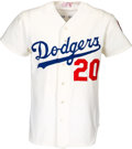 Baseball Collectibles:Uniforms, 1976 Don Sutton Game Worn Los Angeles Dodgers Jersey....