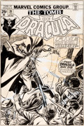 Original Comic Art:Covers, Gil Kane and Tom Palmer Tomb of Dracula #28 Cover Blade Original Art (Marvel, 1975)....