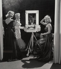 Frank Worth (American, 1923-2000) Lauren Bacall, Betty Grable, and Marilyn Monroe, 1953 Gelatin silv
