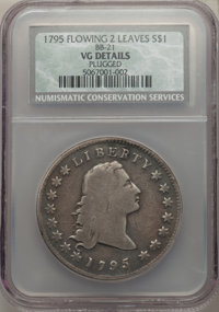 1795 $1 Flowing Hair, Two Leaves, B-1, BB-21, R.2 -- Plugged -- NCS. VG Details....(PCGS# 39986)