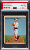 Baseball Cards:Singles (1930-1939), 1933 Goudey Bernie James #208 PSA NM-MT 8 - Only Two Higher. ...