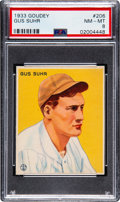 Baseball Cards:Singles (1930-1939), 1933 Goudey Gus Suhr #206 PSA NM-MT 8 - Only Two Higher. ...