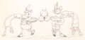 Animation Art:Production Drawing, Woodland Café Dancing Bugs Animation Drawing (Walt Disney,1937). ...