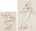 Animation Art:Limited Edition Cel, Mickey's Rival Minnie Mouse and Mortimer Mouse Animation Drawing Group of 2 (Walt Disney, 1936).... (Total: 2 Original Art)