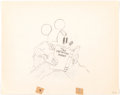 Animation Art:Production Drawing, Mickey Plays Papa Mickey Mouse Animation Drawing (WaltDisney, 1934)...