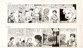 Original Comic Art:Comic Strip Art, Raeburn Van Buren Abbie and Slats Daily Comic Strip OriginalArt Group of 2 (United Feature Syndicate, 1947).... (Total: 2 ComicBooks)