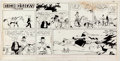 Original Comic Art:Comic Strip Art, Stan Lynde Rick O'Shay Sunday Comic Strip Original Art,dated 4-14-63 (Chicago Tribune Syndicate, 1963). ...