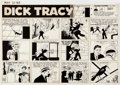 Original Comic Art:Comic Strip Art, Chester Gould Dick Tracy Sunday Comic Strip Original Artdated 5-12-63 (Chicago Tribune, 1963)....