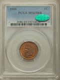 Indian Cents, 1866 1C MS65 Red and Brown PCGS. CAC. EX: Eagle Eye Photo Seal.PCGS Population: (88/6). NGC Census: (100/24). CDN: $1,300 ...