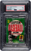 Baseball Cards:Unopened Packs/Display Boxes, 1962 Topps Baseball 3rd Series 5-Card Wax Pack PSA NM 7 - Possible Mickey Mantle! ...