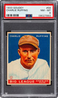 Baseball Cards:Singles (1930-1939), 1933 Goudey Charlie Ruffing #56 PSA NM-MT 8 - Three Higher. ...