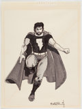 Original Comic Art:Illustrations, Matt Wagner Mage-Related Commission Illustration KevinMatchstick as Superman Original Art (1984)....