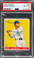 Baseball Cards:Singles (1930-1939), 1933 Goudey Randy Moore #69 PSA NM-MT 8 - Only One Higher. ...