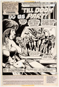 Original Comic Art:Splash Pages, Dick Dillin and Frank McLaughlin Justice League of America#157 Story Page 1 Original Art (DC, 1978)....