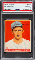 Baseball Cards:Singles (1930-1939), 1933 Goudey Jack Russell #167 PSA NM-MT 8 - Only One Higher. ...