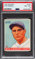 Baseball Cards:Singles (1930-1939), 1933 Goudey Luke Sewell #163 PSA NM-MT 8 - Only One Higher. ...