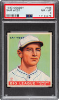 Baseball Cards:Singles (1930-1939), 1933 Goudey Sam West #166 PSA NM-MT 8 - Only Two Higher. ...