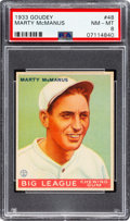 Baseball Cards:Singles (1930-1939), 1933 Goudey Marty McManus #48 PSA NM-MT 8 - None Higher! ...