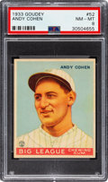 Baseball Cards:Singles (1930-1939), 1933 Goudey Andy Cohen #52 PSA NM-MT 8 - None Higher! ...