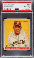 Baseball Cards:Singles (1930-1939), 1933 Goudey Bud Clancy #32 PSA NM-MT 8 - None Higher! ...
