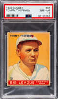 Baseball Cards:Singles (1930-1939), 1933 Goudey Tommy Thevenow #36 PSA NM-MT 8 - None Higher! ...