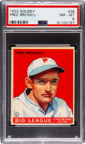 Baseball Cards:Singles (1930-1939), 1933 Goudey Fred Brickell #38 PSA NM-MT 8 - Only One Higher. ...