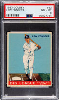 Baseball Cards:Singles (1930-1939), 1933 Goudey Lew Fonseca #43 PSA NM-MT 8 - Only One Higher. ...