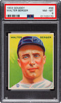 Baseball Cards:Singles (1930-1939), 1933 Goudey Walter Berger #98 PSA NM-MT 8 - None Higher! ...
