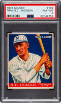 Baseball Cards:Singles (1930-1939), 1933 Goudey Travis C. Jackson #102 PSA NM-MT 8 - Only One Higher. ...