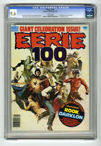 Eerie #100 (Warren, 1979) CGC NM+ 9.6 White pages. Anniversary issue. Features the 1978 Warren Creator Awards. Jim Starl...