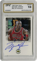 Basketball Collectibles:Others, 1999 Signed UD Authentics Michael Jordan #MJ. Exceptional exampleof the great Michael Jordan's coveted signature has been ...