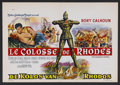 """Movie Posters:Adventure, The Colossus of Rhodes (MGM, 1961). Belgian (14"""" X 21""""). Adventure.Starring Rory Calhoun, Lea Massari, Georges Marchal, Con..."""