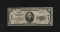 National Bank Notes:Virginia, Norfolk, VA - $20 1929 Ty. 1 The Seaboard Citizens NB Ch. # 10194Great title from this Virginia Navy port city. Very...