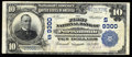 National Bank Notes:Virginia, Portsmouth, VA - $10 1902 Plain Back Fr. 626 The First NB Ch. #(S)9300 Though the lower margin is cut tight on this ...