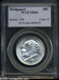 1936 50C Bridgeport MS66 PCGS. A creamy satin finish, silver-white in appearance, and highly lustrous....(PCGS# 9279)