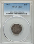 Bust Dimes: , 1827 10C VF20 PCGS. PCGS Population: (24/453). NGC Census: (10/254). VF20. Mintage 1,300,000. ...