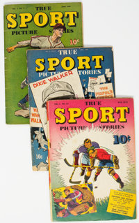 True Sport Picture Stories Group of 13 (Street & Smith, 1943-48) Condition: Average VG.... (Total: 13 Comic Book...