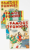 Golden Age (1938-1955):Miscellaneous, Famous Funnies Group of 13 (Eastern Color, 1943-50) Condition: Average FN-.... (Total: 13 )