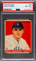 Baseball Cards:Singles (1930-1939), 1933 Goudey Willie Kamm #75 PSA NM-MT 8 - None Higher! ...