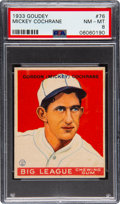 Baseball Cards:Singles (1930-1939), 1933 Goudey Mickey Cochrane #76 PSA NM-MT 8 - None Higher! ...
