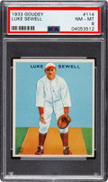 Baseball Cards:Singles (1930-1939), 1933 Goudey Luke Sewell #114 PSA NM-MT 8 - Only One Higher. ...