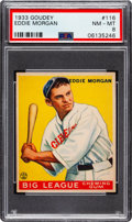 Baseball Cards:Singles (1930-1939), 1933 Goudey Eddie Morgan #116 PSA NM-MT 8 - None Higher! ...