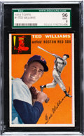 Baseball Cards:Singles (1950-1959), 1954 Topps Ted Williams #1 SGC 96 Mint 9 - The Ultimate SGC Example! ...