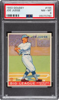 Baseball Cards:Singles (1930-1939), 1933 Goudey Joe Judge #155 PSA NM-MT 8 - Only One Higher. ...