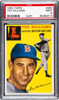 Baseball Cards:Singles (1950-1959), 1954 Topps Ted Williams #250 PSA Mint 9....