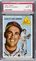 Baseball Cards:Singles (1950-1959), 1954 Topps Peanuts Lowrey #158 PSA Mint 9 - None Higher....