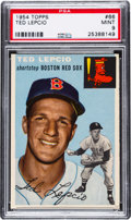 Baseball Cards:Singles (1950-1959), 1954 Topps Ted Lepcio #66 PSA Mint 9 - One Higher....